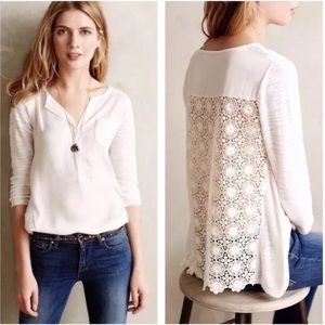 Anthropologie Knitted & Knotted Verso Henley Top S